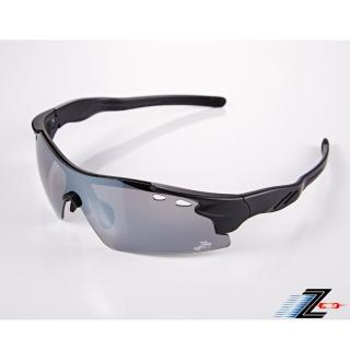 【Z-POLS】新一代頂級一片式帥氣電鍍鏡面抗UV400運動太陽眼鏡(導流孔防霧散熱設計PC防爆頂級款)  Z-POLS