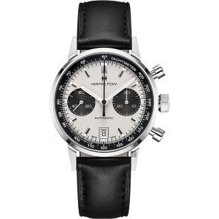 【HAMILTON 漢米爾頓】Intra-Matic Autochrono熊貓復刻計時機械錶(H38416711)真心推薦  HAMILTON 漢米爾頓