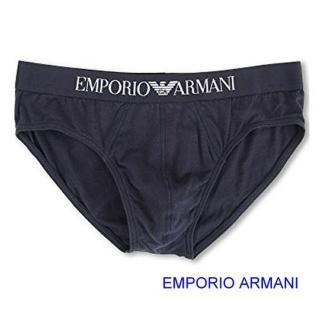 【EMPORIO ARMANI】2019男時尚品味標誌彈力棉深藍色三角內著-網 推薦  EMPORIO ARMANI