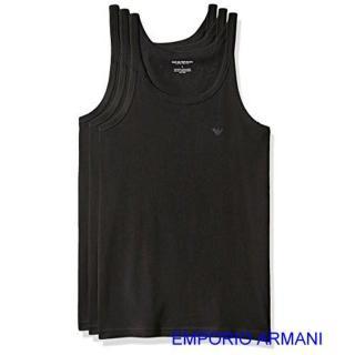 【EMPORIO ARMANI】2019男時尚標誌款黑色背心3件組-網強力推薦  EMPORIO ARMANI