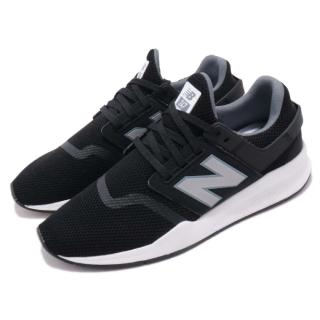 【NEW BALANCE】休閒鞋 247FF D 復古 男女鞋 紐巴倫 情侶鞋 襪套 N字鞋 穿搭 黑 銀(MS247FFD)強力推薦  NEW BALANCE