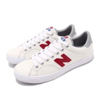 【NEW BALANCE】休閒鞋 210CWT D 復古 女鞋 紐巴倫 皮革 低筒 基本款 球鞋 穿搭 白 紅(AM210CWTD)  NEW BALANCE