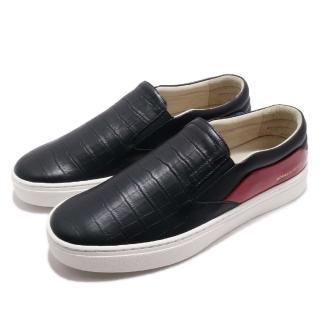 【ROYAL Elastics】休閒鞋 Ketella 低筒 運動 男鞋 套腳 穿脫方便 皮革 質感 穿搭 舒適 黑 紅(00384951)  ROYAL Elastics