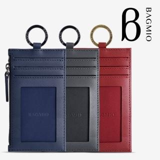 【BAGMIO】牛皮三卡鑰匙零錢包(authentic 系列)強力推薦  BAGMIO