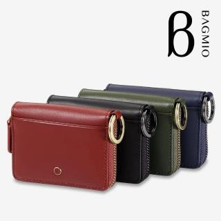 【BAGMIO】牛皮雙卡鑰匙零錢包(vigor 系列)  BAGMIO