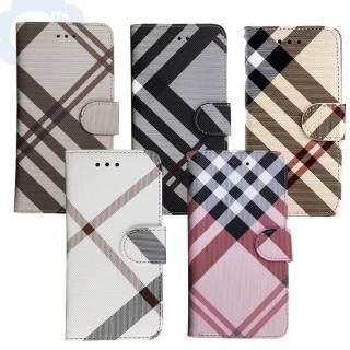 【Apple】iPhone XR 6.1吋 英倫格紋氣質手機皮套 側掀磁扣支架式皮套 矽膠軟殼 5色可選強力推薦  Apple