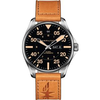 【HAMILTON 漢米爾頓】卡其飛行員機械錶-黑x卡其色/46mm(H64725531)好評推薦  HAMILTON 漢米爾頓