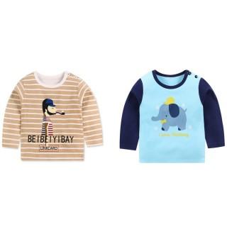 【Baby童衣】長袖上衣 寶寶長袖T恤 純棉百搭長T 88019(共6色) 推薦  Baby童衣