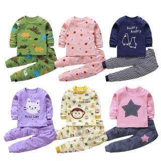 【Baby童衣】居家套裝 兒童睡衣 薄長袖套裝 寶寶居家服 88020(共6色)強力推薦  Baby童衣