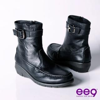 【ee9】個性甜心帥氣極簡工程機車短筒靴~聚焦黑(短筒靴)強力推薦  ee9