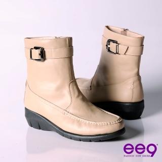 【ee9】個性甜心帥氣極簡工程機車短筒靴~甜美杏(短筒靴)真心推薦  ee9