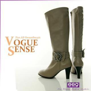 【ee9】慾望城市~經典鑽飾皮帶超顯瘦長筒靴~秀氣可可(長靴) 推薦  ee9
