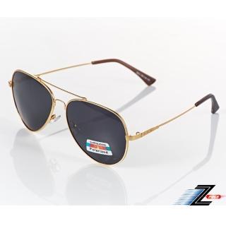 【Z-POLS】頂級記憶合金輕量金框版黑灰Polarized 抗UV400偏光眼鏡(限量版 抗紫外線頂級偏光太陽眼鏡)  Z-POLS