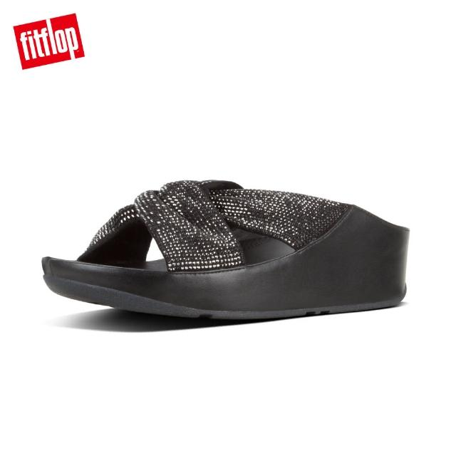 【FitFlop】TWISS CRYSTAL SLIDES(黑色)