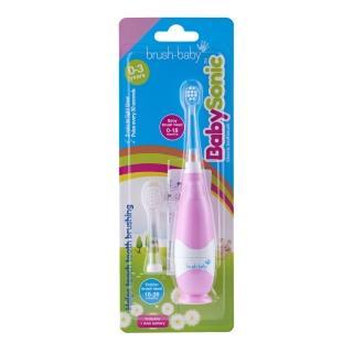 【英國brush-baby】嬰幼兒聲波電動牙刷(0-3歲/粉紅)好評推薦  英國brush-baby