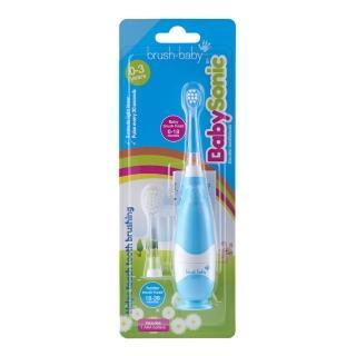 【英國brush-baby】嬰幼兒聲波電動牙刷(0-3歲/粉藍)  英國brush-baby