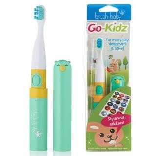 【英國brush-baby】外出攜帶型GoKidz聲波電動牙刷(粉綠)真心推薦  英國brush-baby