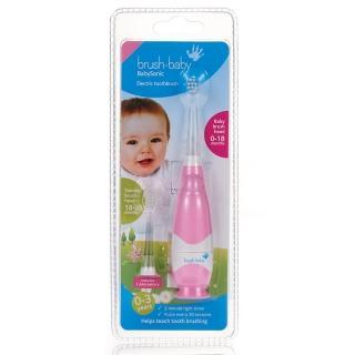 【英國brush-baby】嬰幼兒聲波電動牙刷(0-3歲/粉紅)  英國brush-baby