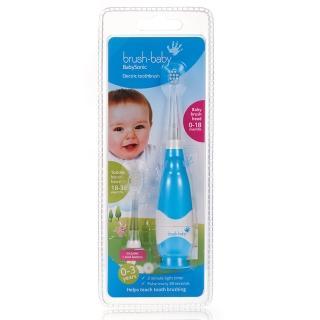 【英國brush-baby】嬰幼兒聲波電動牙刷(0-3歲/粉藍)好評推薦  英國brush-baby