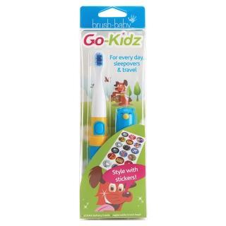 【英國brush-baby】外出攜帶型GoKidz聲波電動牙刷(粉藍)真心推薦  英國brush-baby