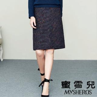 【mysheros 蜜雪兒】炫彩羊毛短裙(藍) 推薦  mysheros 蜜雪兒