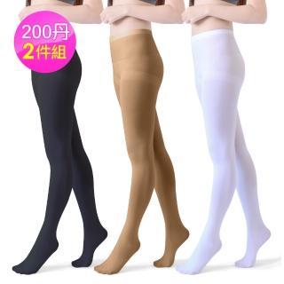 【Dione】200丹超彈性 3D韻律配搭褲襪(2雙-2479) 推薦  Dione