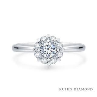 【RUIEN DIAMOND 瑞恩鑽石】GIA50分 D VS2 3EX(18K白金 心緣 鑽石婚戒)  RUIEN DIAMOND 瑞恩鑽石