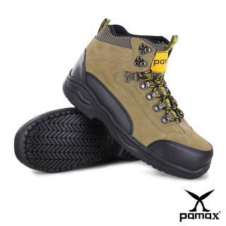 【PAMAX 帕瑪斯】休閒型寬楦氣墊鋼頭鞋、採銀纖維抗菌除臭工作安全鞋(PA00315H米 /男)  PAMAX 帕瑪斯