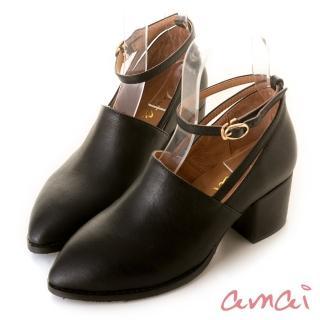 【amai】小文青復古瑪莉珍踝靴(黑)強力推薦  amai