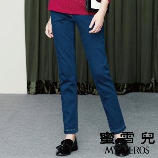 【mysheros 蜜雪兒】單寧微刷牛仔長褲(藍)  mysheros 蜜雪兒