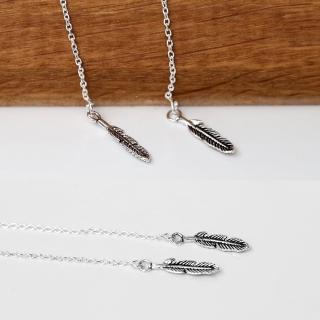 【玖飾時尚】羽毛垂墜耳針耳環(銀飾)真心推薦  玖飾時尚