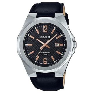 【CASIO 卡西歐】超簡約蛇紋錶面皮質腕錶-黑面(MTP-E158L-1A)好評推薦  CASIO 卡西歐