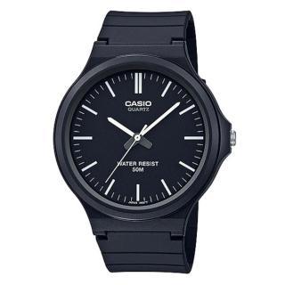 【CASIO 卡西歐】簡約指針休閒錶-羅馬黑面(MW-240-1E)  CASIO 卡西歐