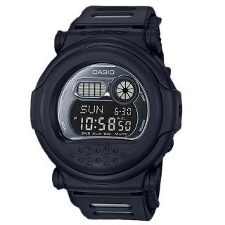 【CASIO 卡西歐】G-SHOCK 酷炫電子男錶 橡膠錶帶 消光黑 防水200米(G-001BB-1)  CASIO 卡西歐