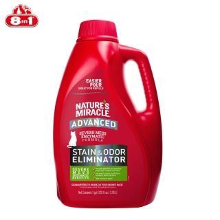 【8in1】自然奇蹟《活氧酵素去漬除臭噴劑-清新香味》128oz(貓用) 推薦  8in1