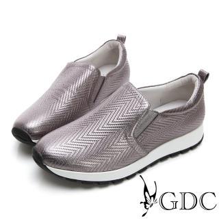 【GDC】真皮質感壓紋舒適休閒鞋-灰色(824685)好評推薦  GDC
