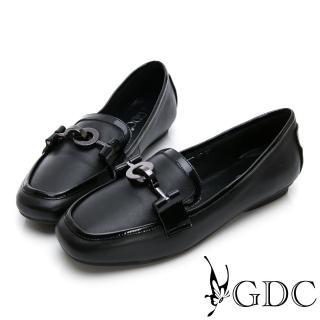 【GDC】真皮歐美時尚微方頭休閒鞋-黑色(824737)好評推薦  GDC