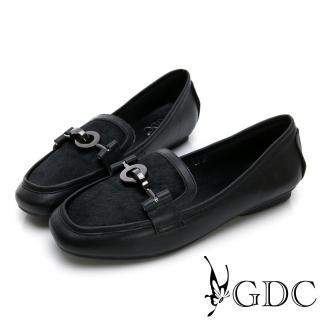 【GDC】馬毛歐美時尚微方頭休閒鞋-黑色(824737)好評推薦  GDC