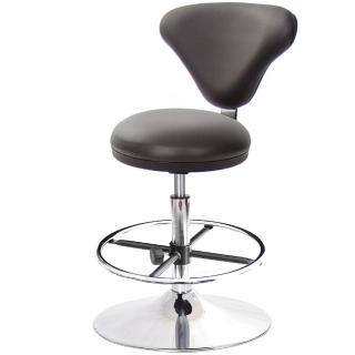 【吉加吉】GXG 漢堡型 圓凳加椅背 工作椅 喇叭座+踏圈款(TW-81T2K)  吉加吉