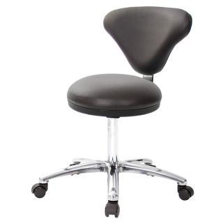 【吉加吉】GXG 漢堡型 圓凳加椅背 工作椅 寬鋁腳+防刮輪(TW-81T2LU1X)  吉加吉