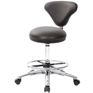 【吉加吉】GXG 漢堡型 圓凳加椅背 工作椅 寬鋁腳+踏圈(TW-81T2LU1K)  吉加吉
