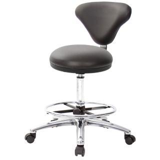 【吉加吉】GXG 漢堡型 圓凳加椅背 工作椅 寬鋁腳+踏圈+防刮輪(TW-81T2LU1XK)  吉加吉