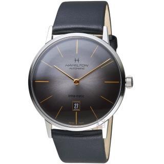 【HAMILTON 漢米爾頓】美國經典系列Intra-Matic機械腕錶(H38755781)  HAMILTON 漢米爾頓