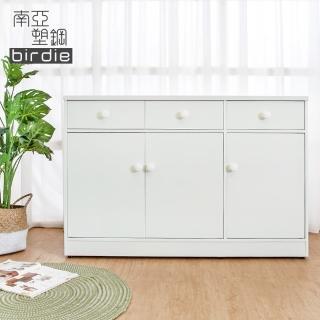 【南亞塑鋼】4.2尺三門三抽塑鋼電器櫃/收納餐櫃(白色)好評推薦  南亞塑鋼