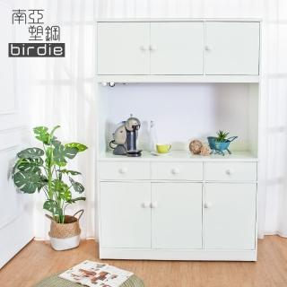【南亞塑鋼】4.2尺六門三抽塑鋼電器櫃/收納餐櫃(白色)好評推薦  南亞塑鋼