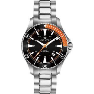 【HAMILTON 漢米爾頓】KHAKI NAVY 卡其海軍潛水機械錶-黑/40mm(H82305131)強力推薦  HAMILTON 漢米爾頓