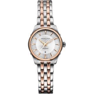 【HAMILTON 漢米爾頓】JAZZMASTER 爵士機械女錶-銀/30mm(H42225151)  HAMILTON 漢米爾頓