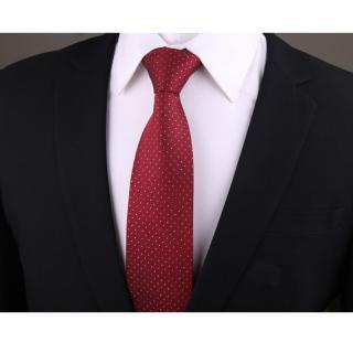 【拉福】點點8CM寬版領帶拉鍊領帶(紅底點點)  拉福