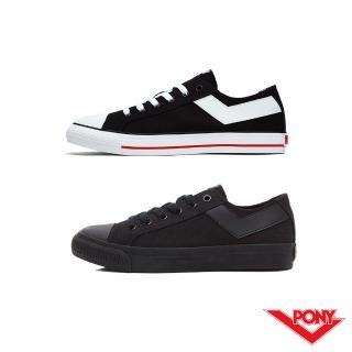 【PONY】Shooter系列百搭復古帆布鞋-女-黑色 推薦  PONY