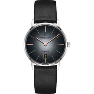 【HAMILTON 漢米爾頓】AMERICAN CLASSIC 經典機械錶-漸層灰/38mm(H38455781)  HAMILTON 漢米爾頓